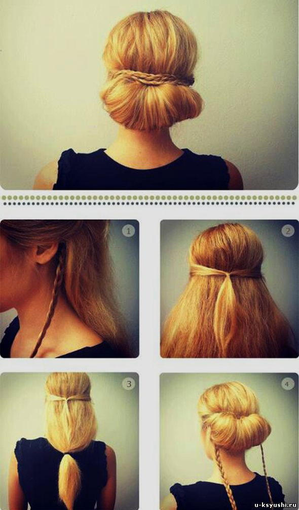 Прически с плетением на длинные волосы своими