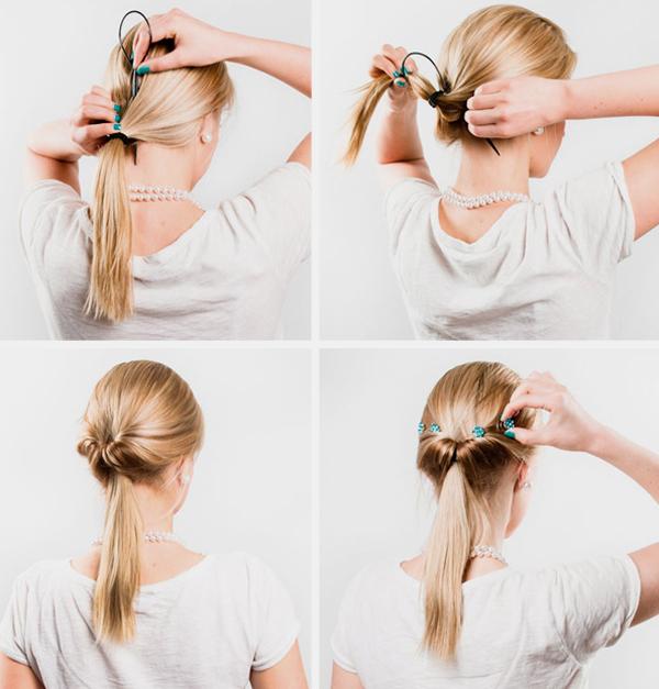 Как сделать прически для волос с резинками 784