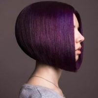 Фиолетовые волосы: темные, светлые, пепельные