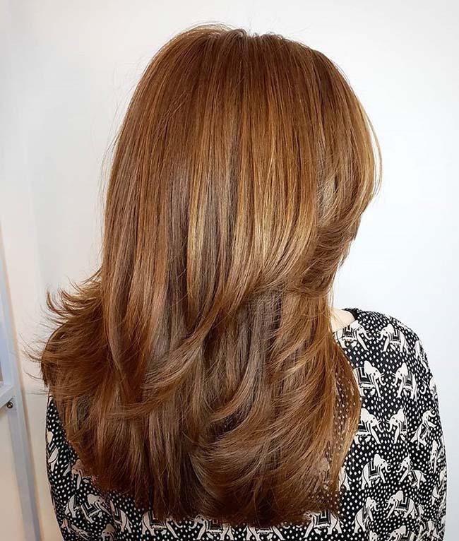 стрижка нижний каскад на длинные волосы фото