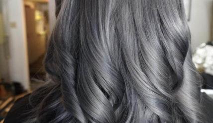 Цвет волос графит: тренд 2021 — темный, серый, черный