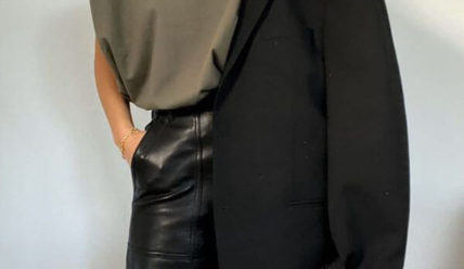 С чем носить кожаные брюки: ТОП фасоны 2021