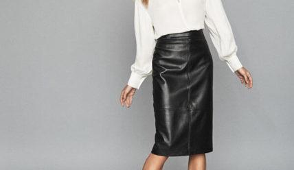 С чем носить кожаную юбку: ТРЕНДЫ 2021 (фото)